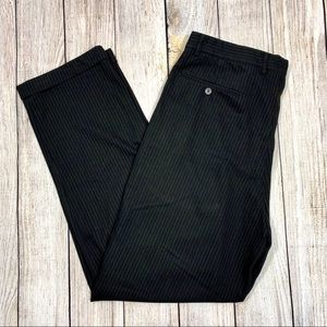Claiborne | Mens Black Pinstriped Dress Pants